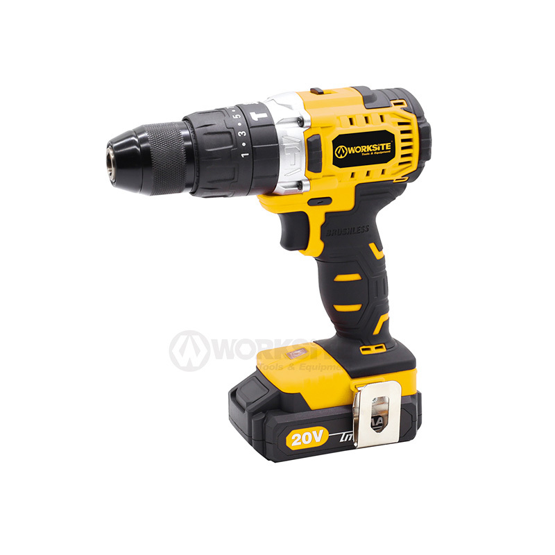 Top Rated Cordless Brushless Hammer Drill 20V Max Li-ion Reversible CD320H