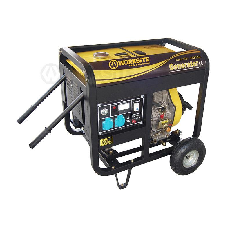 5000W Emergency Diesel Generator 12.5L 4 Stroke Air Cooling DG108