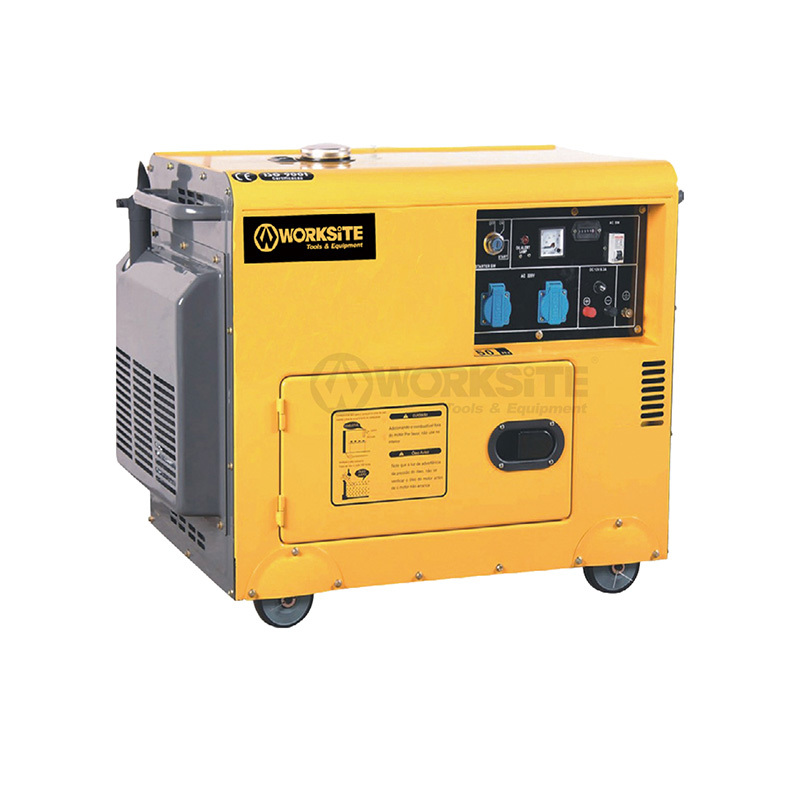 5000W Quiet Portable Diesel Standby Generator 69 dB noise rating DGS106