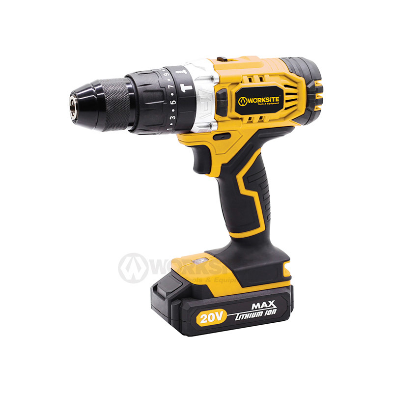 Cordless Hammer Drill, CD326H,  20V Max, 13mm, Torque 21+1+1+1,  w/1pc Double-Ended Bit