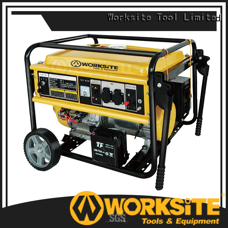 WORKSITE electric start portable generator for homeowners