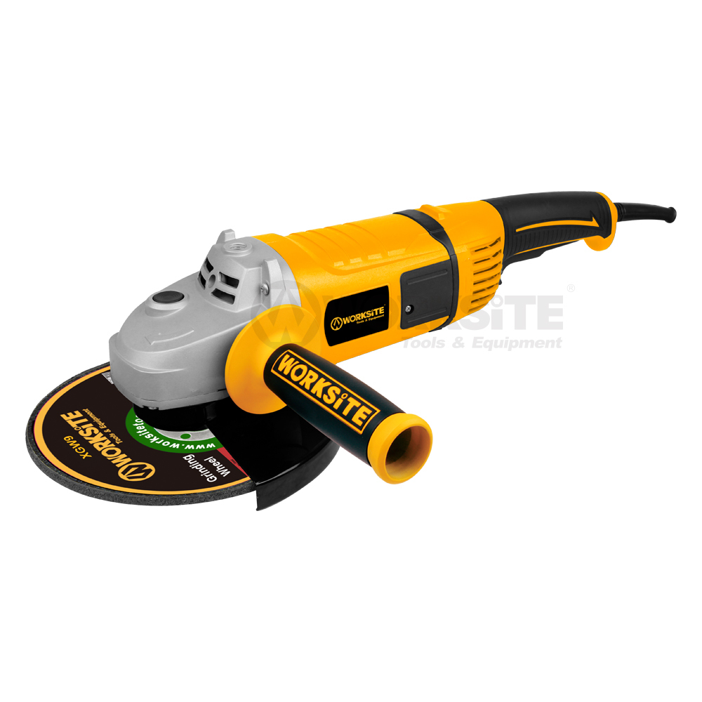 230mm Angle Grinder, AG423, 2600W, 180°Rotatable Tail, Powerful and Industrial grade