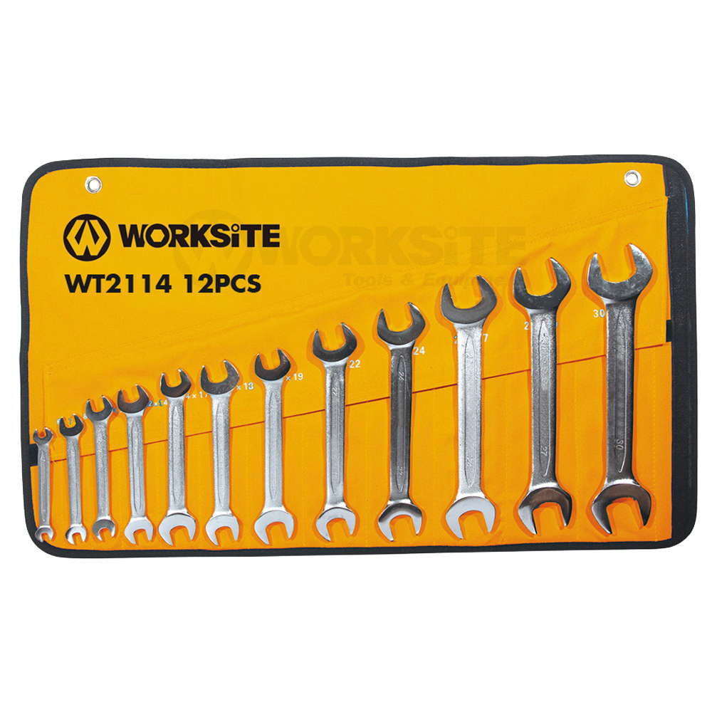 12PCS Double Open End Wrenches Set, Chrome Vanadium Steel