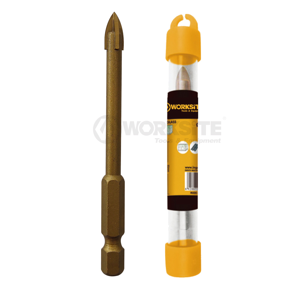 Tin coated Tile & Glass Drill Bit, Plastic tube packing