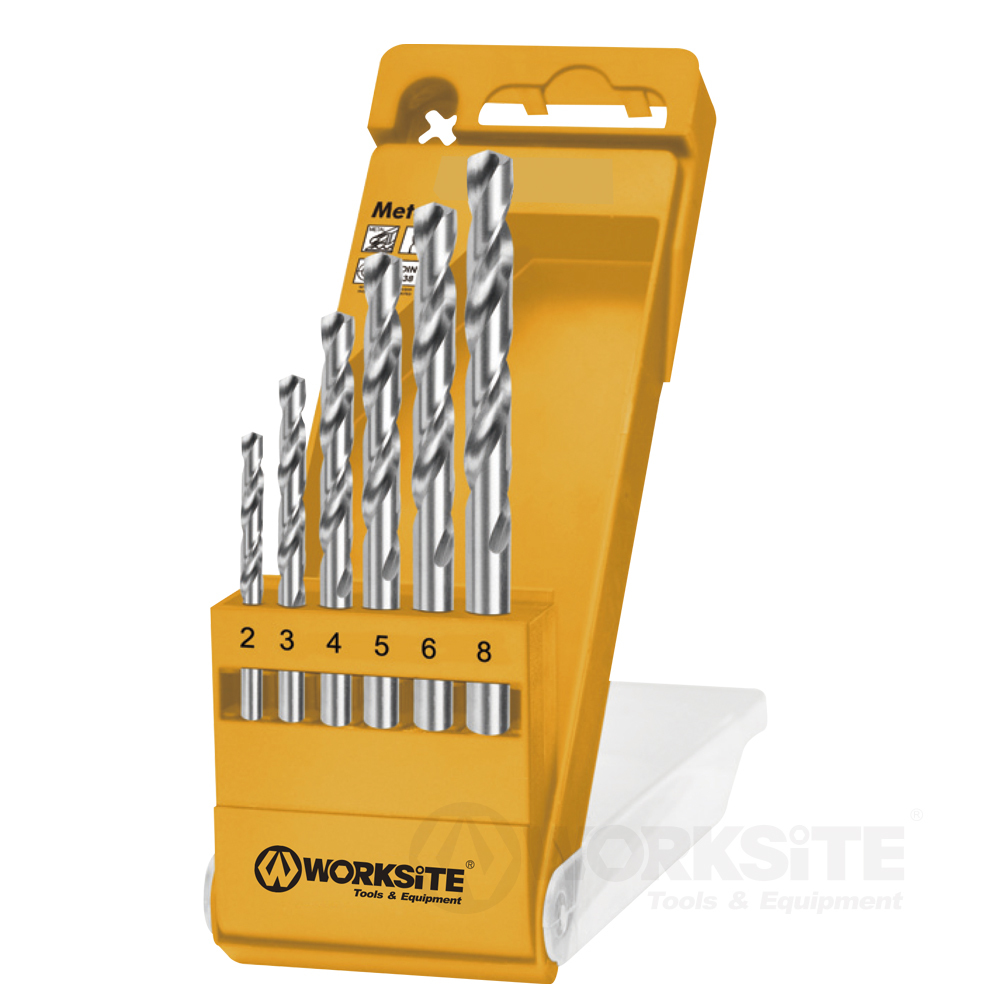 6PCS Hss Twist Drill Bits Set, Metal Drill, Plastic Box