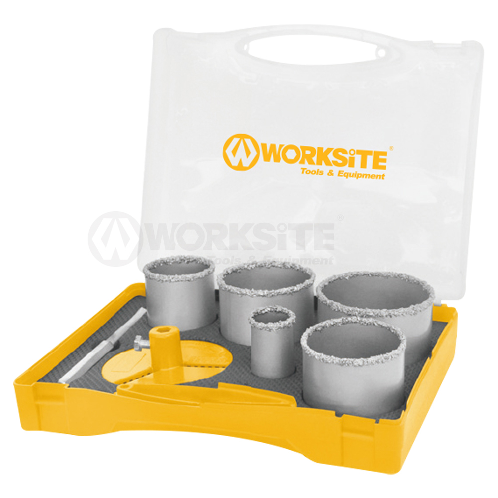 5PCS Carbide Gritted Hole Saw Set