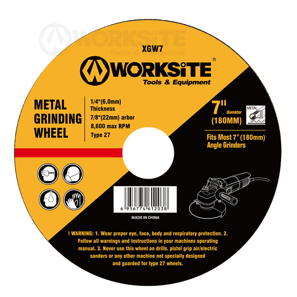 Grinding Wheel, 100/115/125/150/180/230MM, Worksite Power Tools Accessories