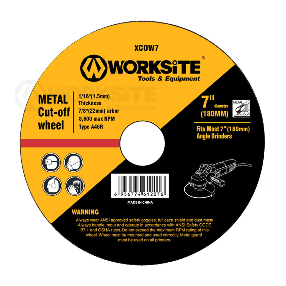 Cut Off Wheel, Worksite Power Tools Accessories