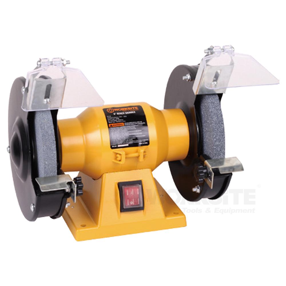 6 inch Bench Grinder, BG106, 200W,110V, Wheel size 150x16mm, Grit 36 & 80, Arbor: 12.7mm