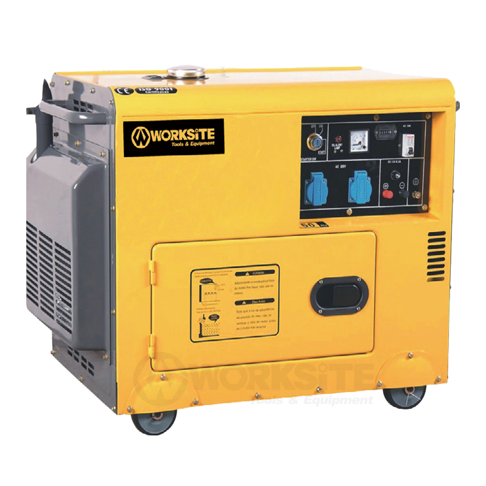 5000W Silent Diesel Generator,  DGS106, 4Stroke, 12.5L, Electic start,  Air cooling, 69 dB noise rating