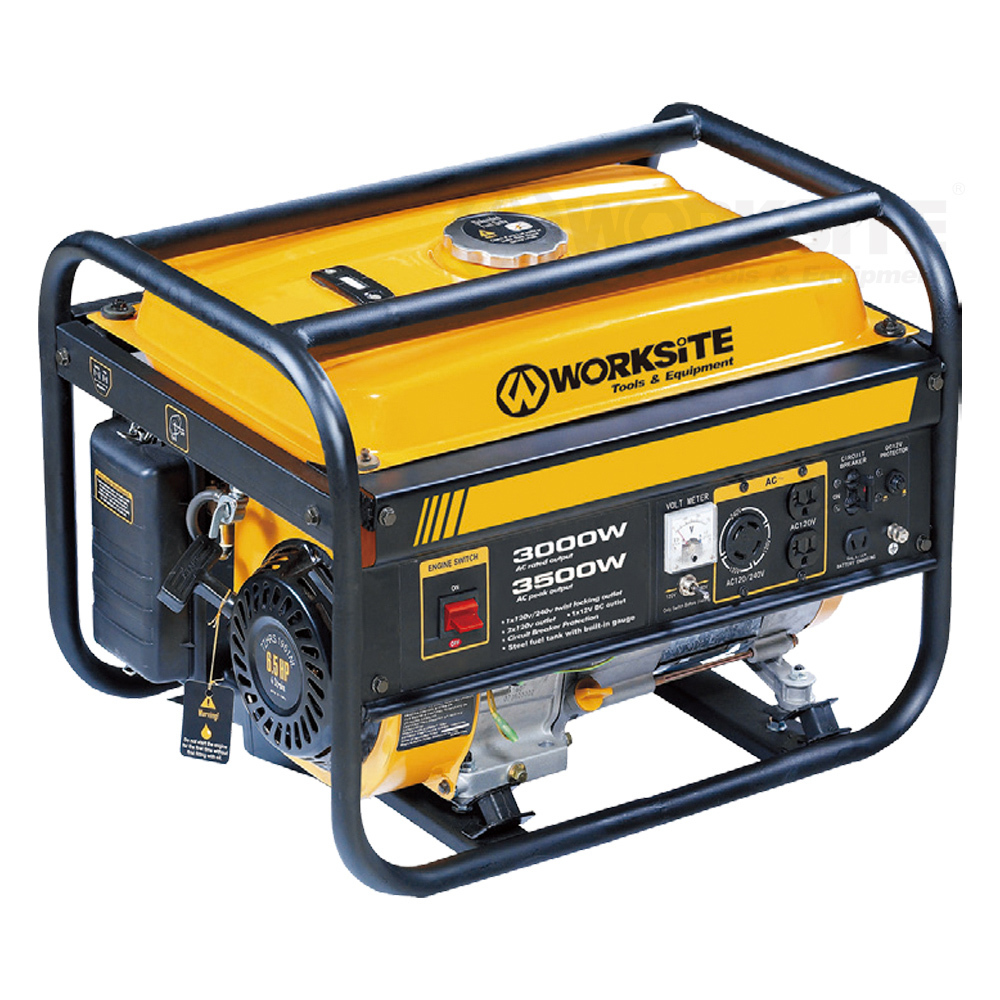 3000W/3500W Gasoline Generator,  EGT113, 4 Stroke, 15L,  Recoil & hand and electic start,  Air-cool, Professional