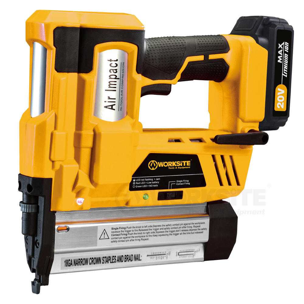 20V Cordless Nailer/Stapler, CNT102, 2.0AH Battery and FAST Charger