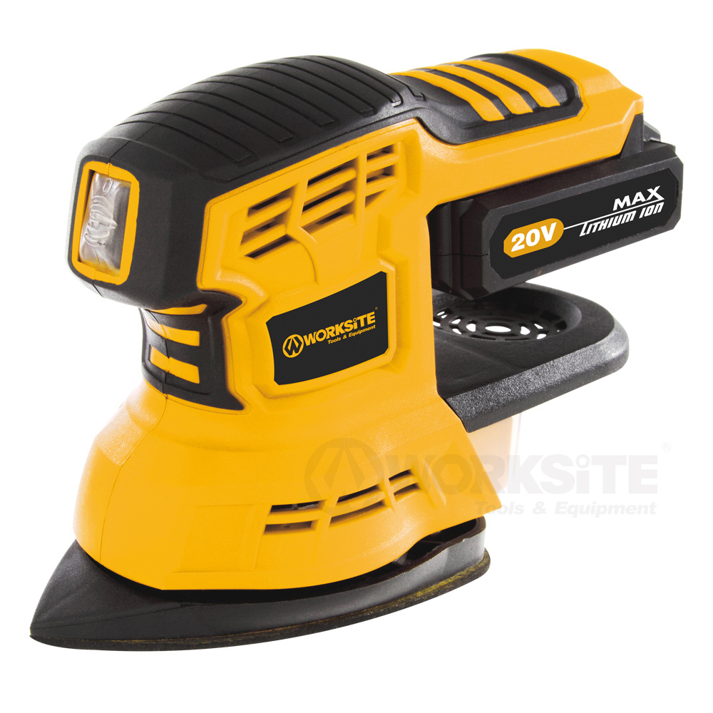 20V Cordless 2 In 1 Sander, CDS326, 2.0AH Battery and FAST Charger