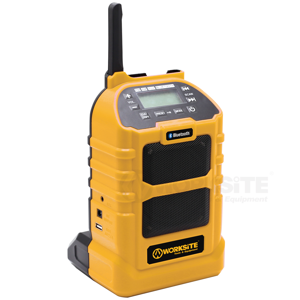 Dual Source Jobsite Radio, JSR102, 2.0AH Battery and FAST Charger