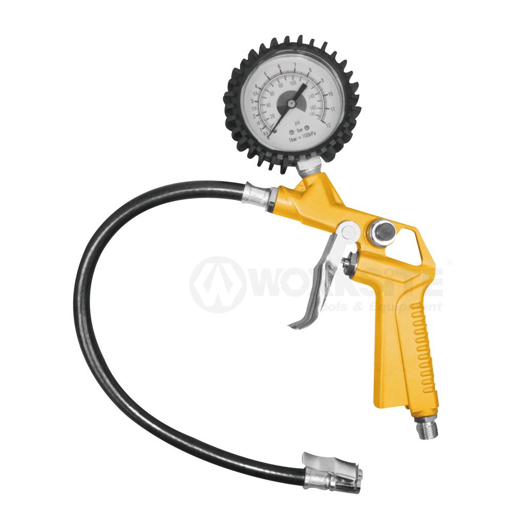 Tyre Inflating Gun, 3-in-1 Tire Inflator w/Gauge, PTG174