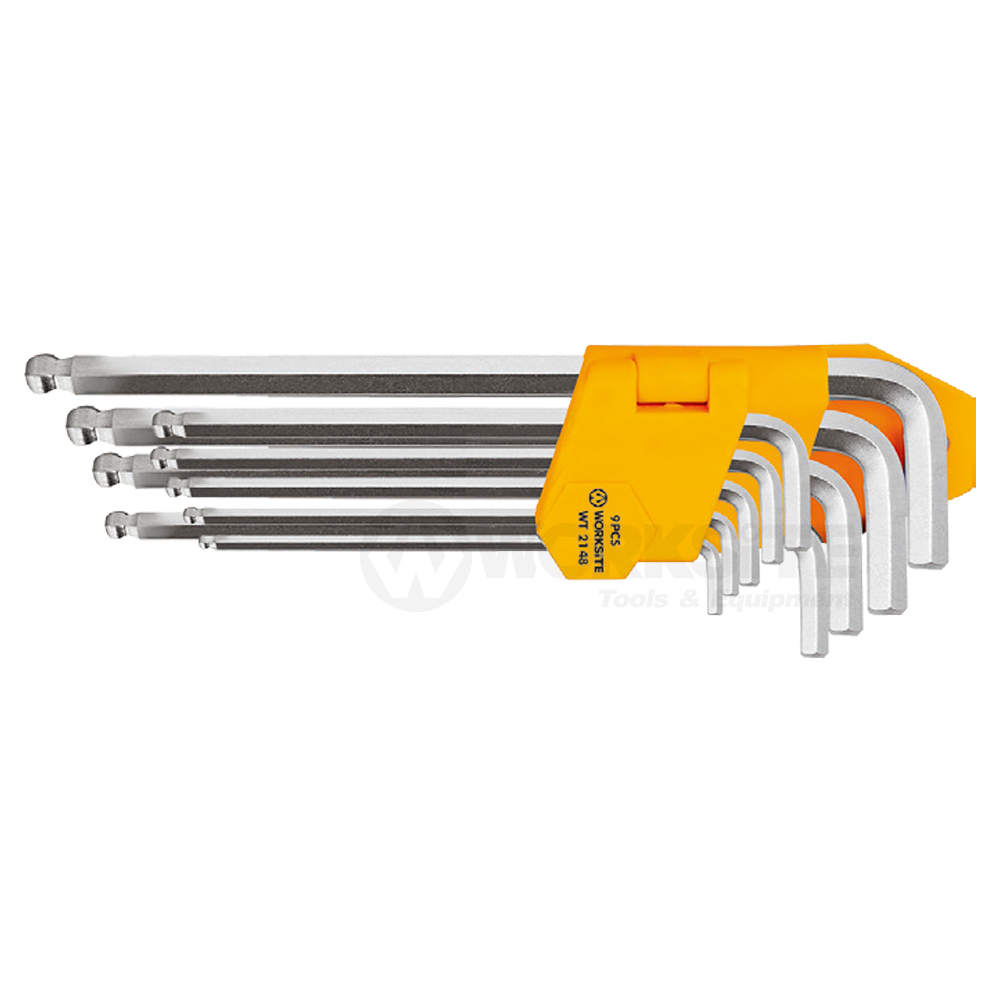 Ball Point Hex Key, WT2147, Extra Long Arm, Cr-V steel