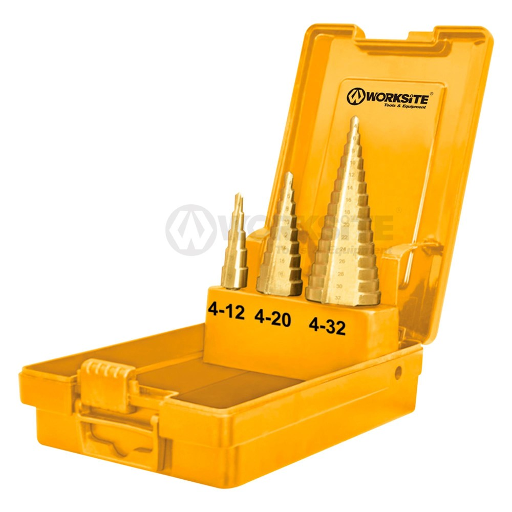 Best Price 3PCS Step Drillbits Set, HSS Metal XSDB301 Supplier-WORKSITE
