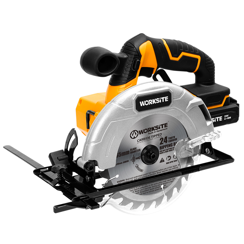 WORKSITE 20V Cordless Circular Saw, CCS326, 2.0AH Battery and FAST Charger