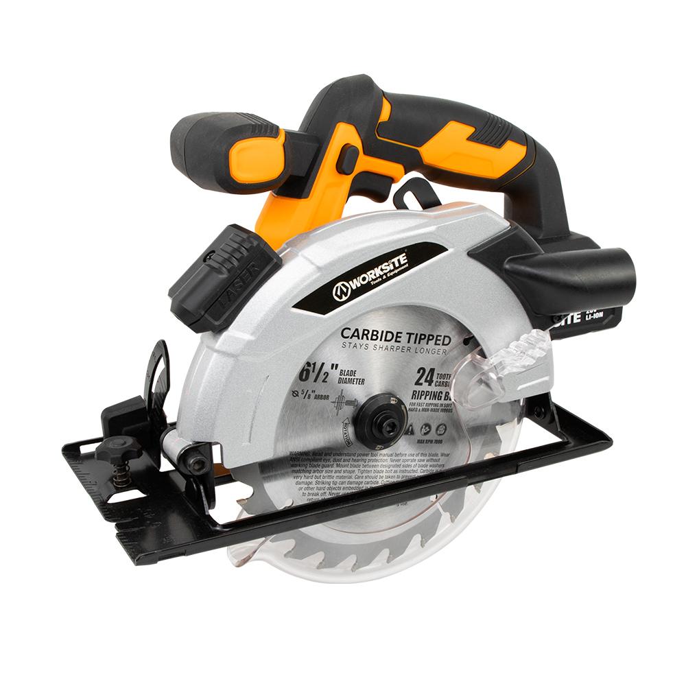 Worksite 4000RPM Mini Circular Saw Machine Tools, CCS334,  20V Power Saws Electric Circular Saw Cordless