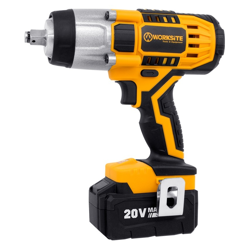 2Pcs 2.0Ah High Torque Battery Impact Wrench 400N.m 20V Cordless Impact Wrench Power Tools CIW326