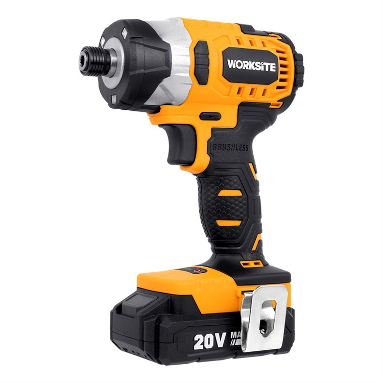 WORKSITE Impact Driver Screwdriver Battery Power Tools 3 Speed 20V Brushless Cordless Impact Driver CIS320A
