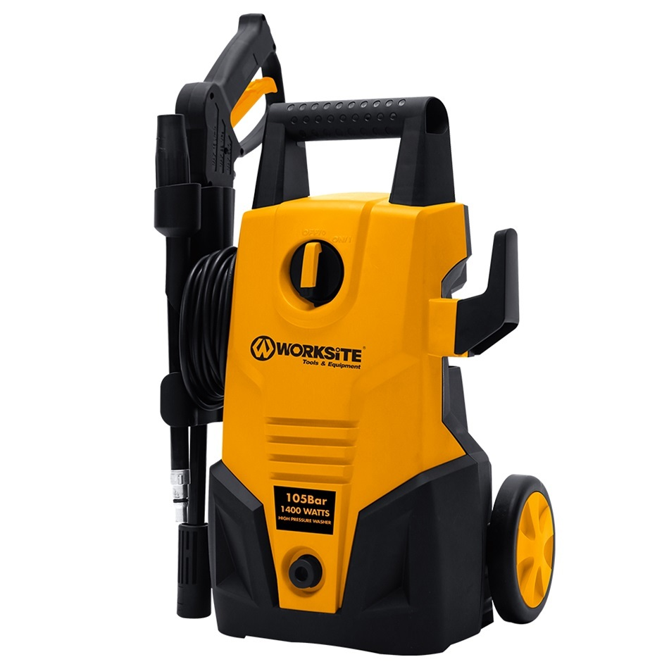Worksite Electric Power High Pressure Car Washer Machine Tools 1400W Portable High Pressure Washer HPW102