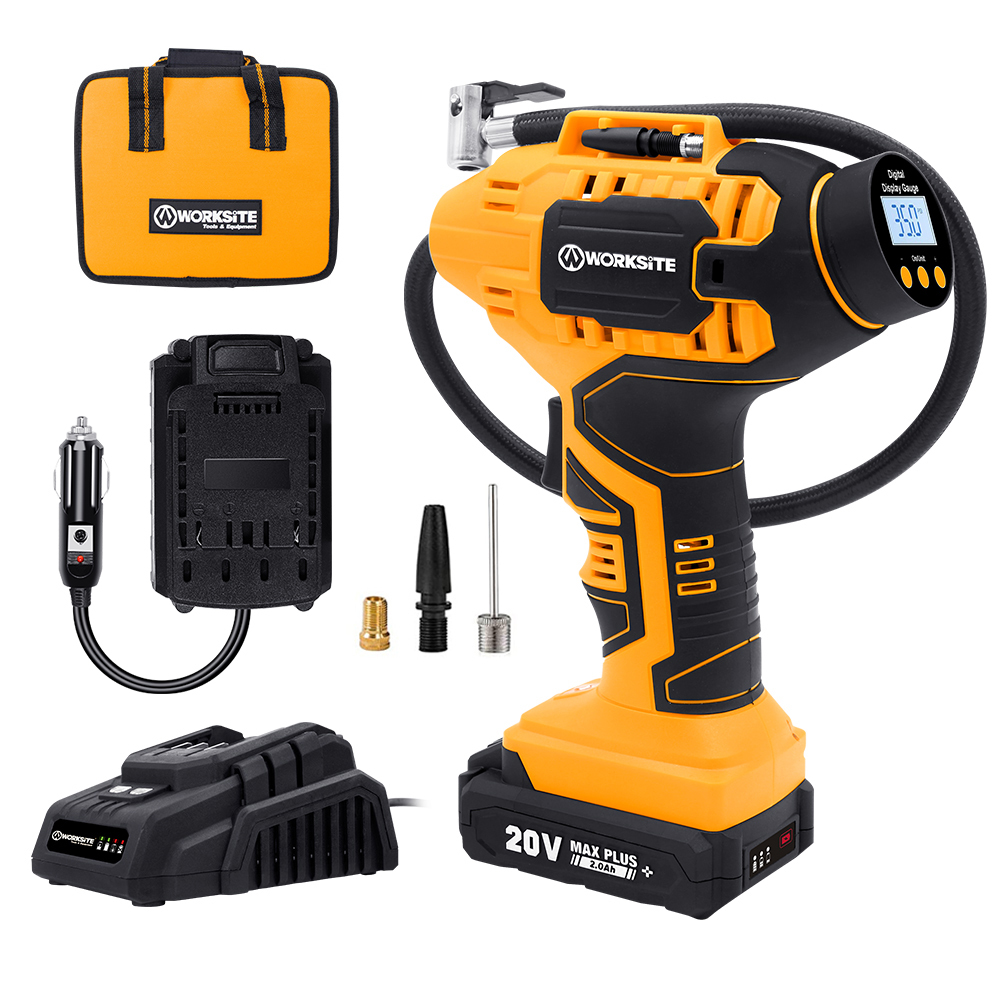 20V Cordless Power Inflator, CAP115D, 2.0AH Battery and FAST Charger