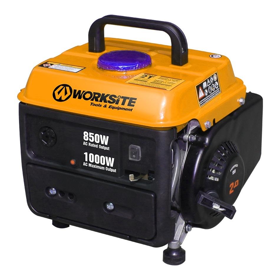WORKSITE 850W 2 Stroke Gasoline Generator Recoil start 72 dB Noise Rating EGT102