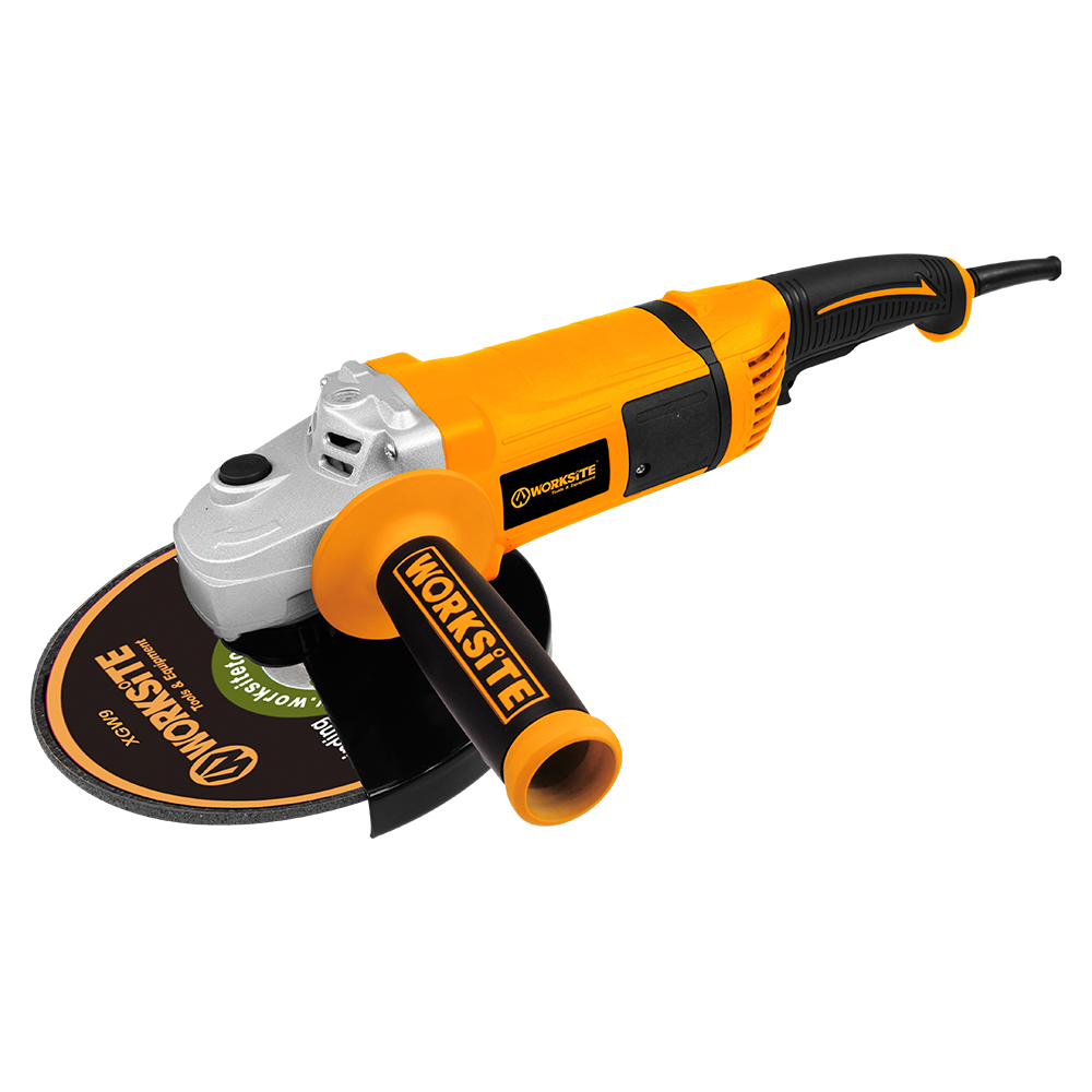WORKSITE 230mm Angle Grinder, AG419, 2000W, 220-230V, 50/60Hz, 180°Rotatable Tail
