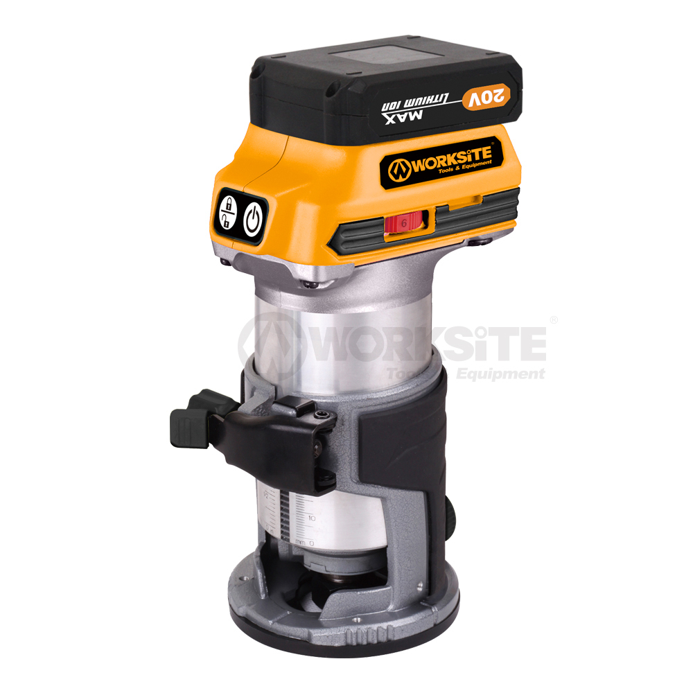 WORKSITE 20V Cordless Router, CR326, 2.0AH Battery and FAST Charger
