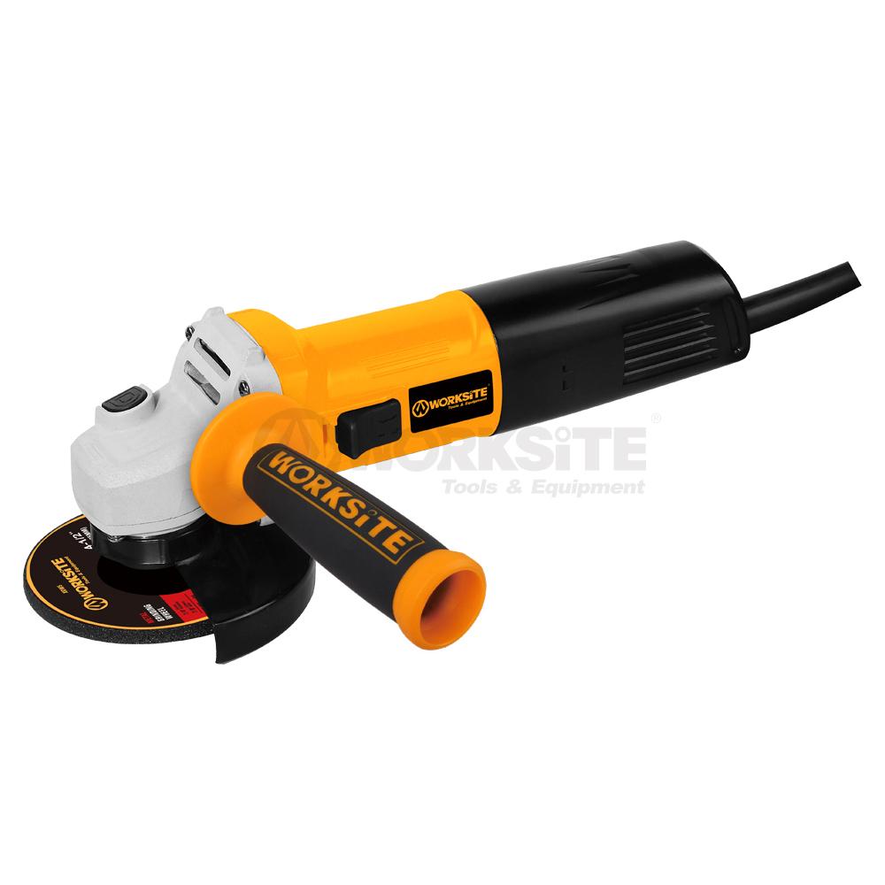 WORKSITE 115mm Angle Grinder, AG590, 900W, 110V, 50/60Hz