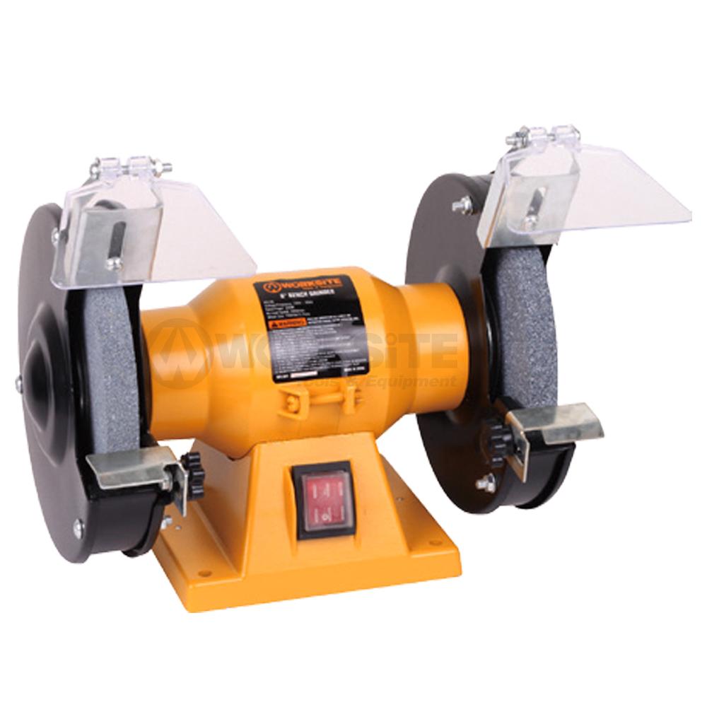 WORKSITE 6 inch Bench Grinder,BG106,200W,Wheel size 150x16mm, Grit 36&80,Arbor: 12.7mm