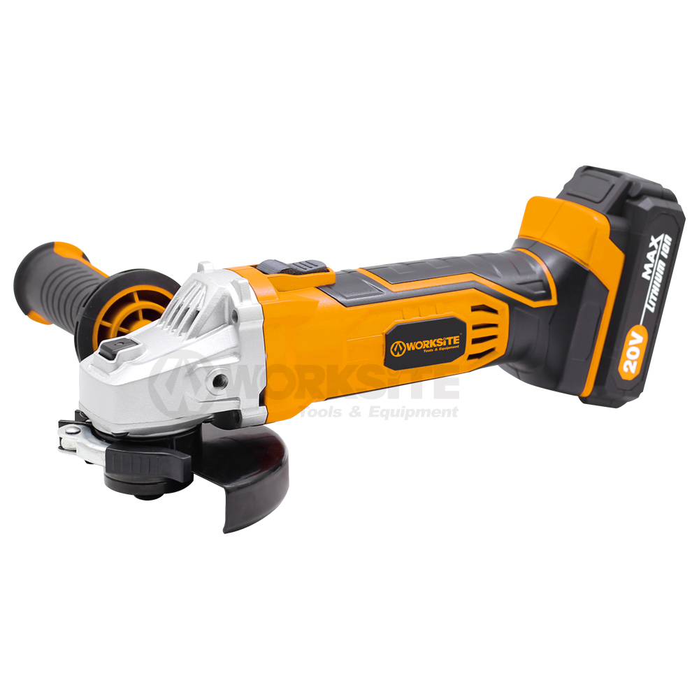WORKSITE 115mm Cordless Angle Grinder CAG326   W/ 4.0ah Battery