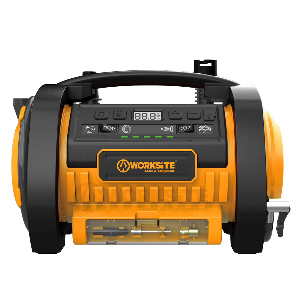 WORKSITE 20V Cordless Power Inflator, CAP211, 2.0AH Battery and FAST Charger
