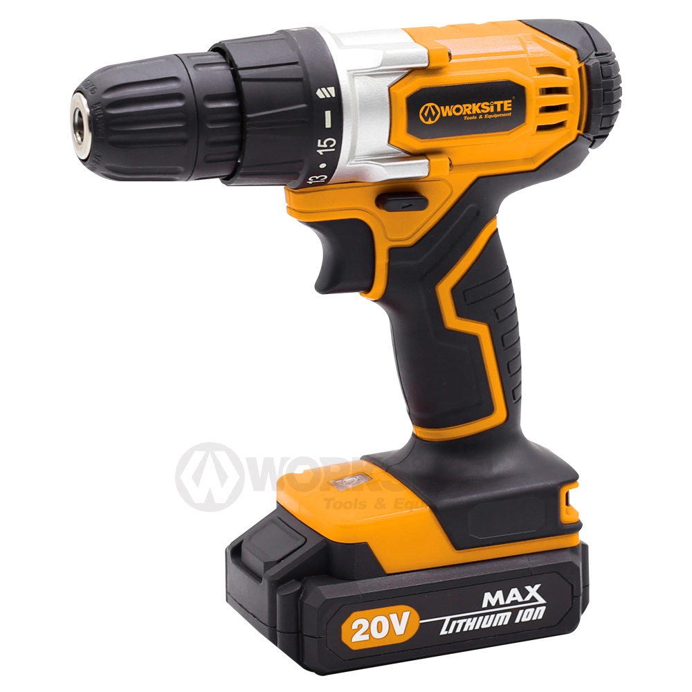 WORKSITE Best Cordless Impact Drill 10mm 20V Max Li-ion Reversible CD317