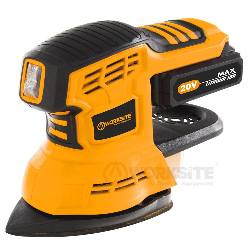 WORKSITE 20V Cordless 2 In 1 Sander, CDS326, 2.0AH Battery and FAST Charger