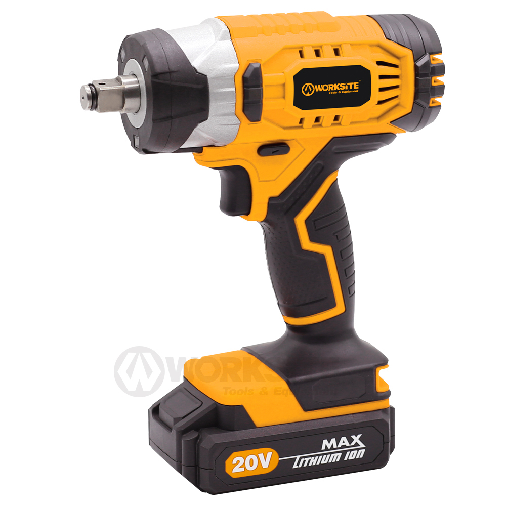 WORKSITE 20 Volt Max Cordless Impact Wrench, 13mm 2.0AH Battery and FAST Charger, CIS326B