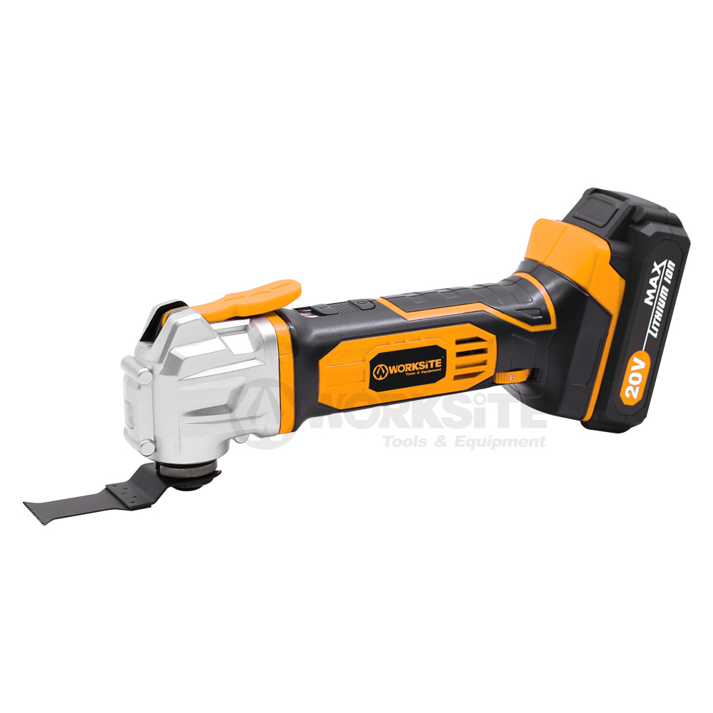 WORKSITE 20V Cordless Oscillating Tool, CMT326, 2.0AH Battery and FAST Charger