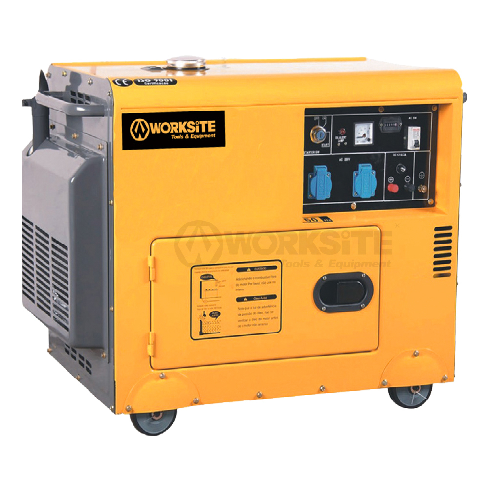 WORKSITE 5000W Quiet Portable Diesel Standby Generator 69 dB noise rating DGS106